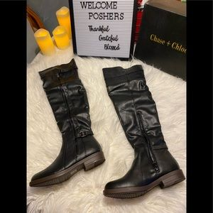 👢 NIB Chase & Chloe Black Knee High Boots